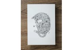 【作家名:酒井ひさお】活版印刷ポストカード(ねこ1)