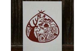 【作家名:渡辺トモコ】活版印刷ポストカード(たんばーブラウン)
