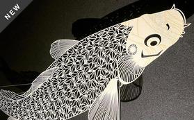 BAKIBAKI立体オブジェ(鯉)