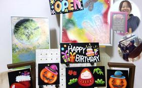 「季節のチョークアートorスプレーアート」アートのある空間を楽しむ、お部屋に飾りやすいサイズのアートボードです。