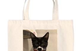 感謝のメール、ハンの写真がプリントされたトートバッグ