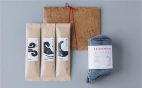 【購入支援】KAIHŌ SOCKSと養生セット/ KiKi北千住「時をつくるお茶セット」