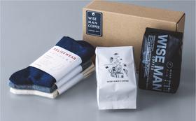 【購入支援】KAIHŌ SOCKSと小金井おいしいものセット/ WISE MAN COFFEE「冬の養生コーヒーセット」