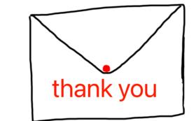 感謝のメッセージ(応援プランB)