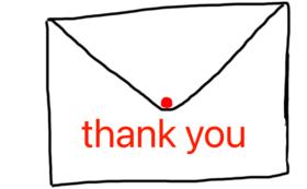 感謝のメッセージ(応援プランDX)