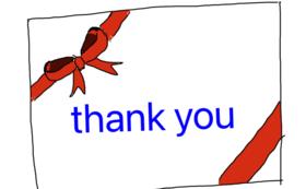感謝のオリジナルメッセージカードA