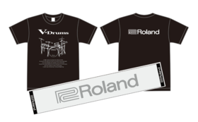 Roland V-Drumsオリジナル Tシャツ&マフラータオル