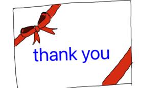 感謝のオリジナルメッセージカードB