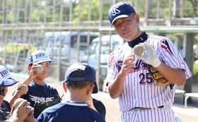 野球チームへの元プロ野球選手講師派遣