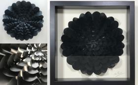 一枚の紙から生まれる大型ダリア 黒