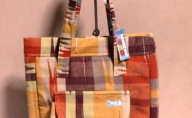 さをり織り マフラー又はショール に加えて ショルダーバッグ又はトートバッグ