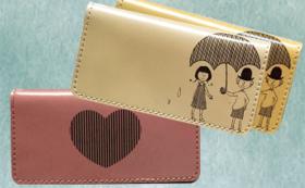 オリジナルメッセージ入り革財布