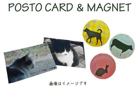 ポストカード5枚 & マグネット5個 & サンクスレター