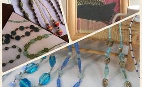 沙里さんの作品セット:ビーズと、さをり織り