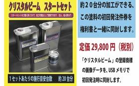 1、クリスタルビーム加工マニュアル+DVDセット2、クリスタルビームフランチャイズ フューチャー(未来)オーナー権利 (権利書)3、初回塗料セット無料券