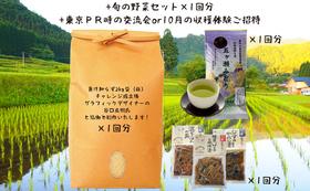 五ヶ瀬特産品セットと交流会/収穫体験へご招待
