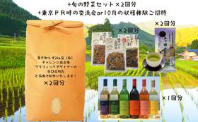 五ヶ瀬特産品セット2回分・ワイン6本と交流会/収穫体験へご招待