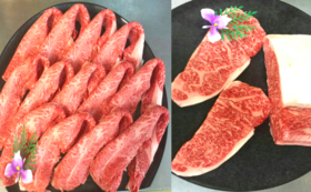 【熊本産黒毛和牛or伝統和牛ステーキセット】