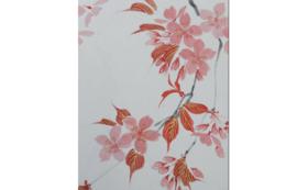 直筆墨彩画 山桜の色紙絵