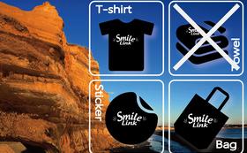 限定!Smile Link オリジナルグッズ(Tシャツ、バッグ、ステッカー)&お礼状  Sサイズ