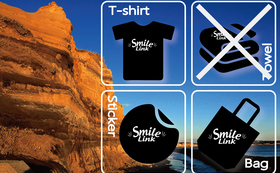 限定!Smile Link オリジナルグッズ(Tシャツ、バッグ、ステッカー)&お礼状  Mサイズ