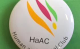 人と動物の会「HaAC」缶バッチ
