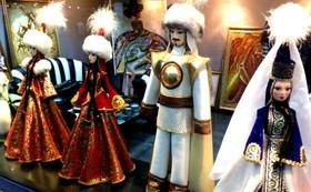 カザフスタン国旗チョコレートセット+特選カザフスタン民芸品3点セット+記録DVD