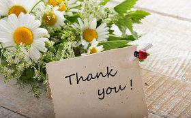 感謝の想いを込めたお礼状の送付