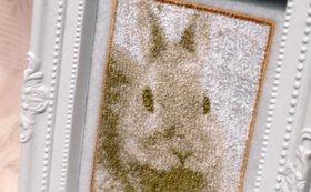 お好きな写真のセピア刺繍(大)