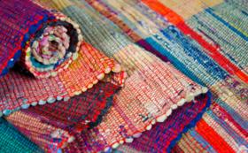 スウェーデンの裂き織りコースターセット