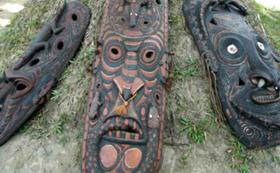 パプアニューギニア原始芸術『木彫り』