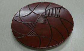鎌倉彫の菓子皿(木内史子作品)