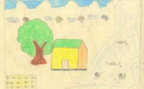 バングラデシュの少女からの感謝の絵手紙をお送りします。