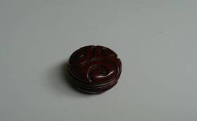 鎌倉彫・倶利文香合(木内史子作品)、図録