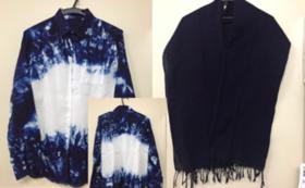 徳島伝統の藍染ストールorシャツ
