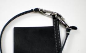 ウォレットガード(黒)本体1枚+ロープ1本