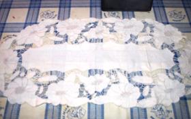 お母さんからの手紙&障がいを持つみんなが作ったレース刺繍のランチョンマット