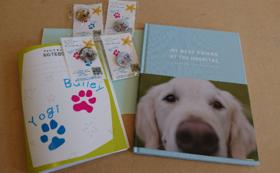 心を込めたお礼のお手紙、缶バッチ2つ、ノート1冊、写真集1冊をお送り致します!
