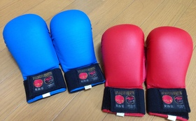全空連指定拳サポーター赤&青セットをお送りします