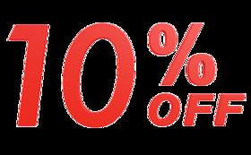 10%割引券とスタンプカード