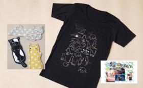 完売しました!【数量限定】猫イラストTシャツとマグネット