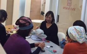 ガーゼ帽子を縫う会を応援を応援するコースです。