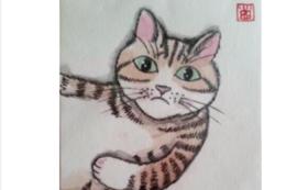 猫のイラスト入りポストカード:3枚