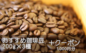 おすすめ珈琲豆詰め合わせ&割引券《1万円B》