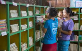 応援コース「難民キャンプの図書館を後押し!」