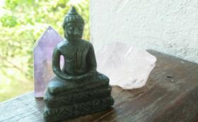 【NEW!!】ミャンマー産翡翠の座禅ブッダ