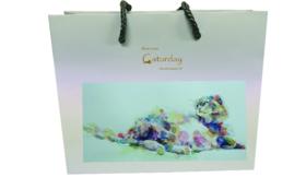「Caturday」オリジナル紙袋S、Lサイズ各1袋&ステッカー2枚