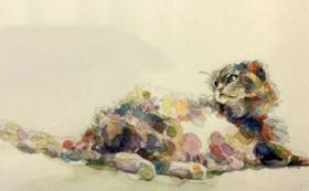 世界で1つ。あなたの猫ちゃんを描いてもらえる権利/水彩画