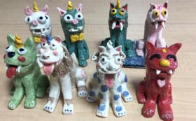 〈イベント参加型〉あなたへのオリジナル「アート狛犬」を特別に製作