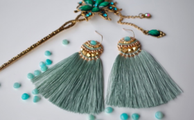 【60%OFF】Amazonite Feather tassel Amulet【早期購入割引】